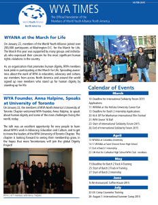 WYANA Newsletter page 2