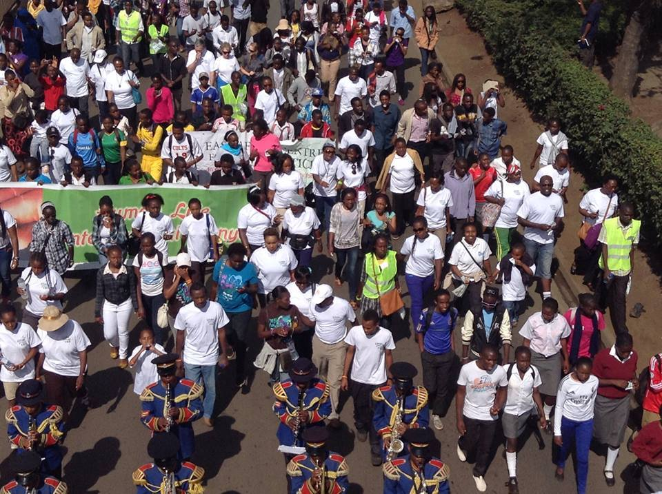 At the March for Life in Nairobi. Photo courtesy Kenya Christian Professionals Forum.