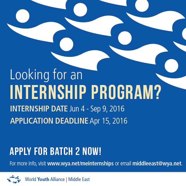 WYA Middle East Internship 2016 _batch 2 _socialmedia