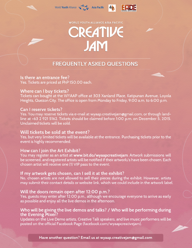 WYAAP Creative Jam_FAQs