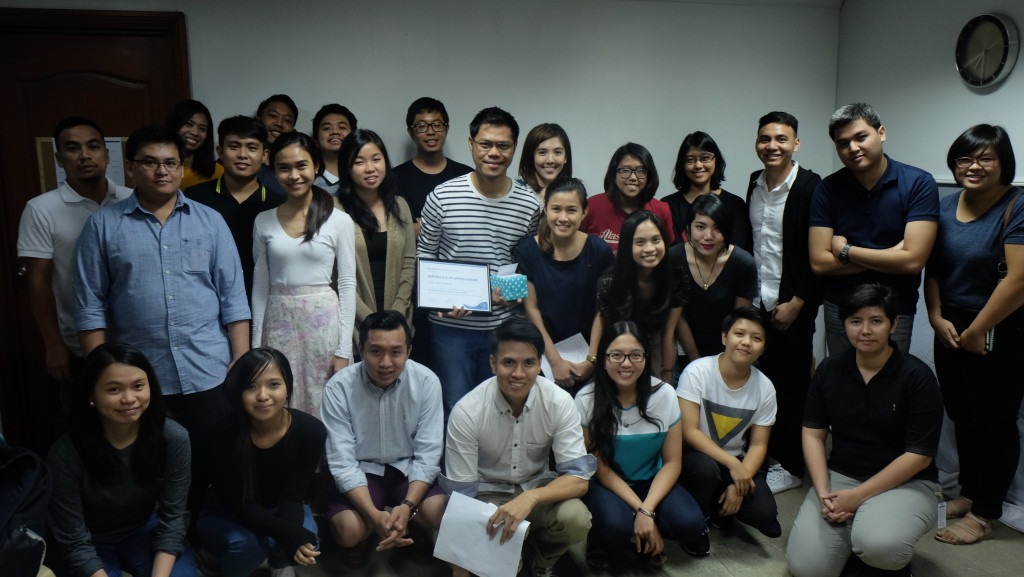 Participants and WYAAP staff and interns with UX Design Workshop instructor, Mr. John Imbong